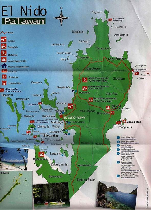 Map of El Nido, Palawan