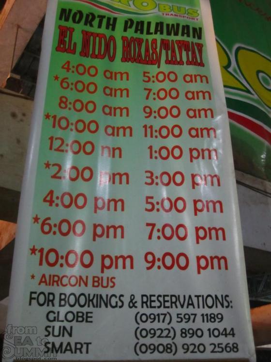 RORO bus schedules.