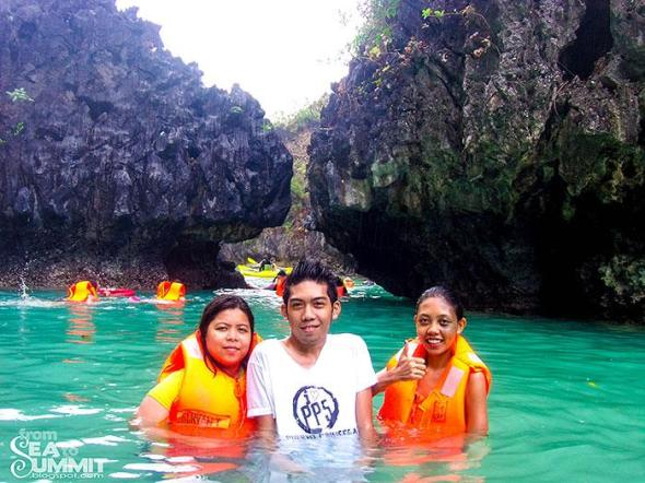 Small lagoon of Island hopping Tour A