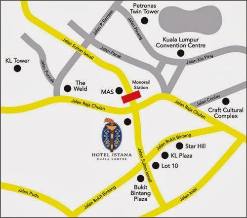 hotel istana map